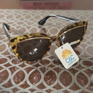 C&C California tortoise shell and gold sunglases